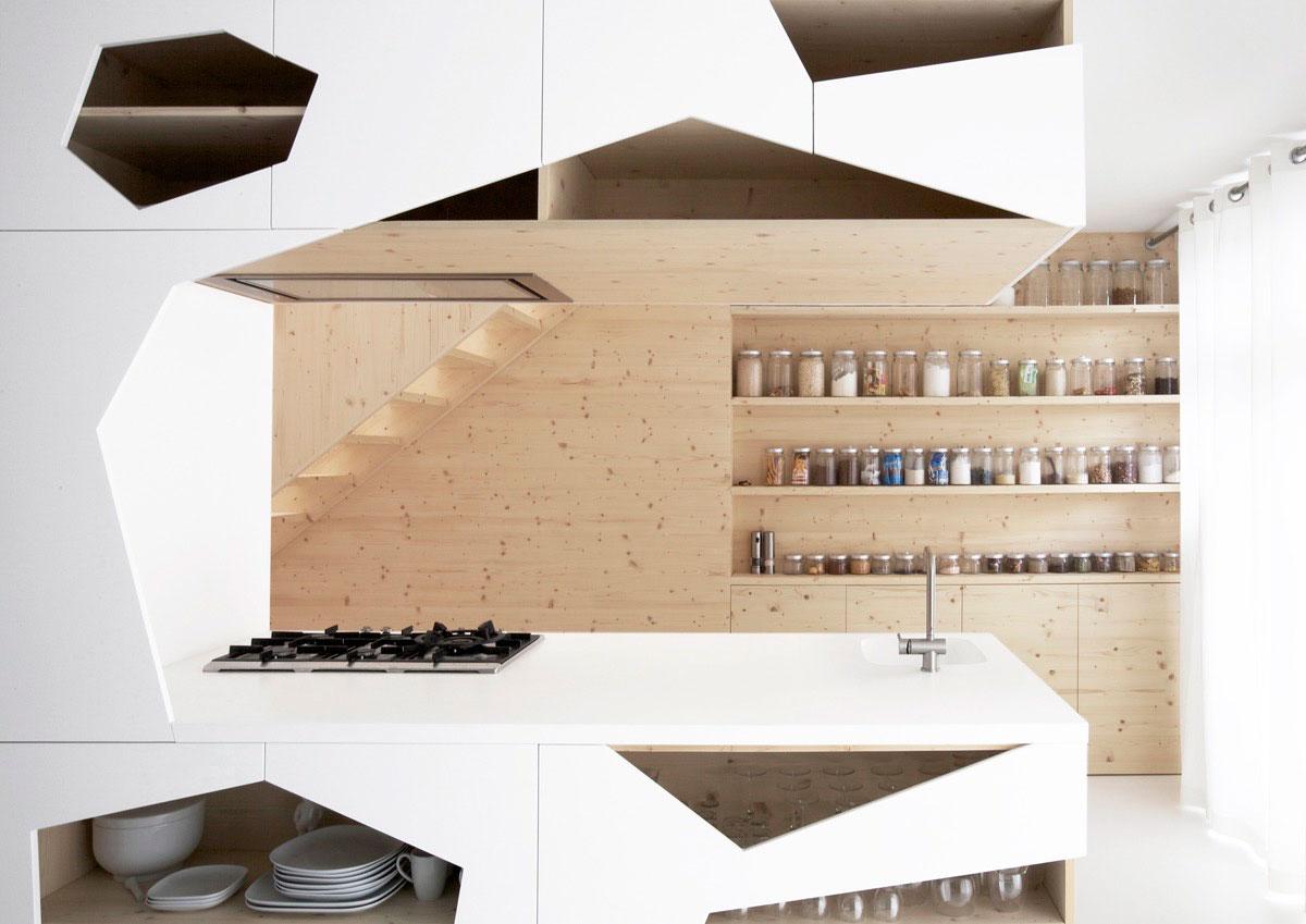 طراحی آشپزخانه با اشکال هندسی