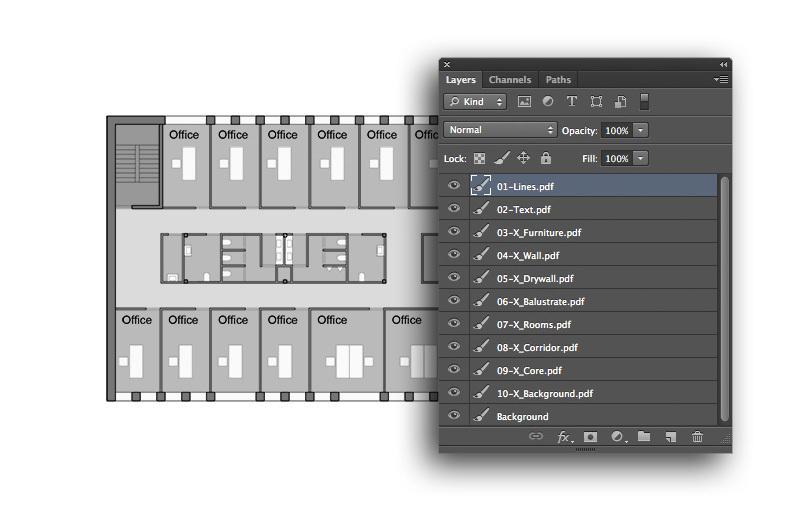 فایلهای PDF را در یک فایل PSD لایهبندی کنید
