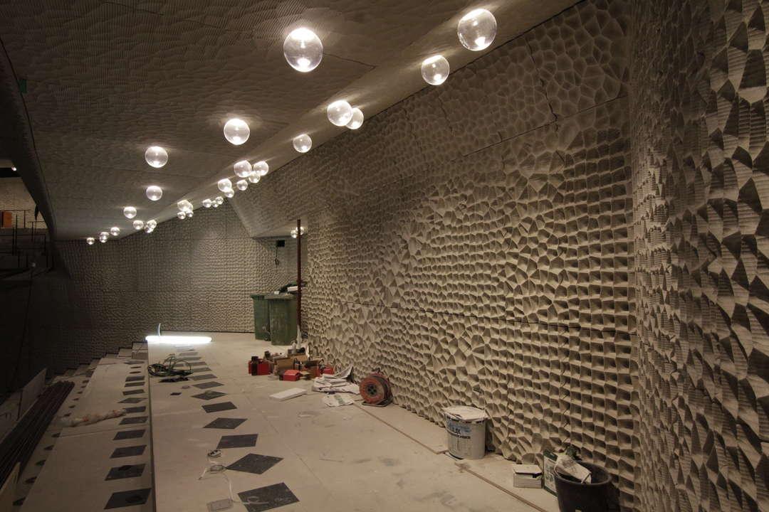 نمای فضای داخلی یکی از بالکن های سالن بزرگ کنسرت Great Hall