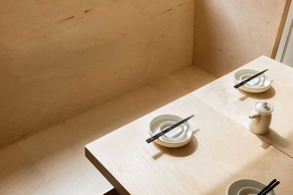 طرحی داخلی رستوران ژاپنی