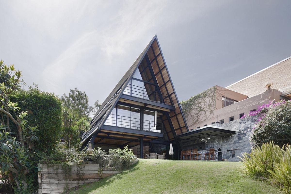 طراحی سقف دیواری شیبدار