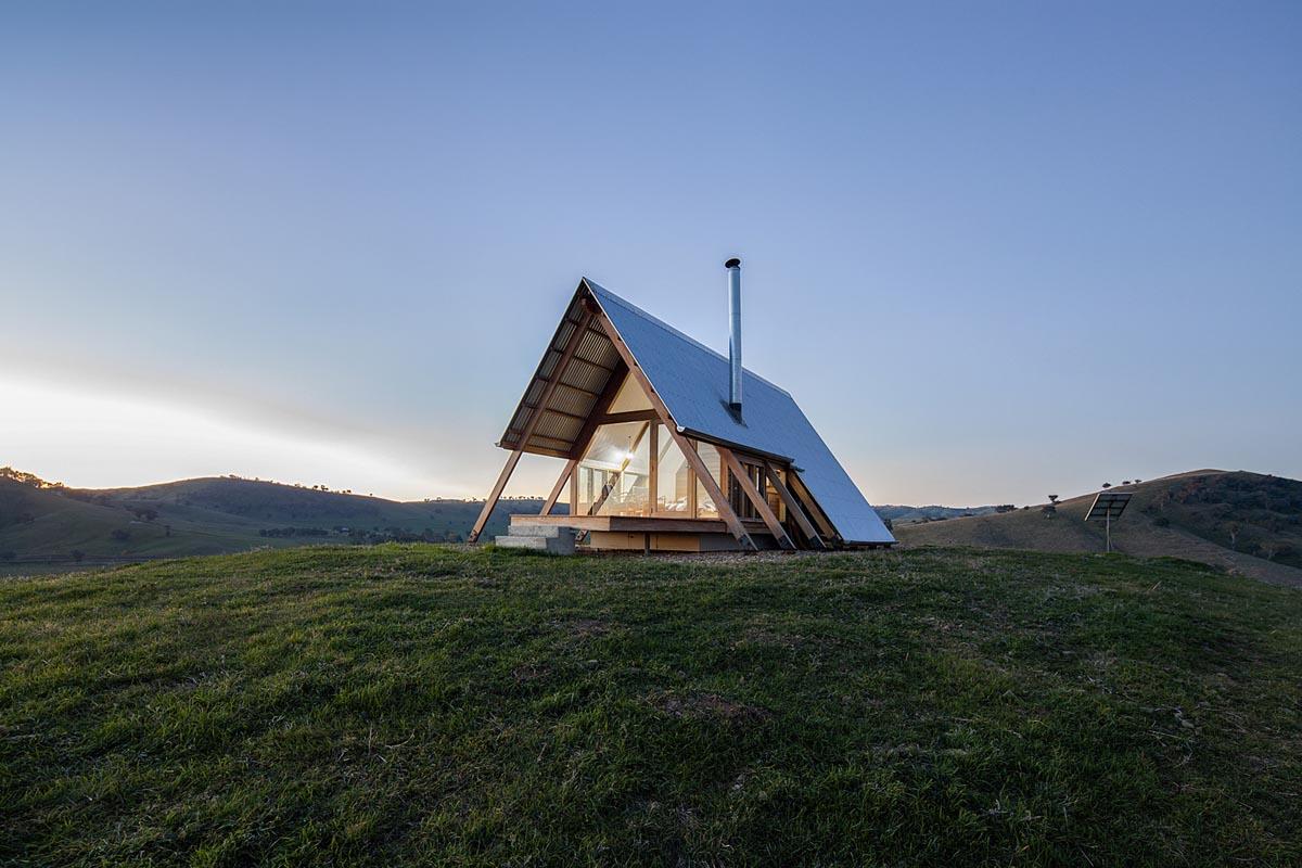 طراحی ویلا با سقف شیروانی