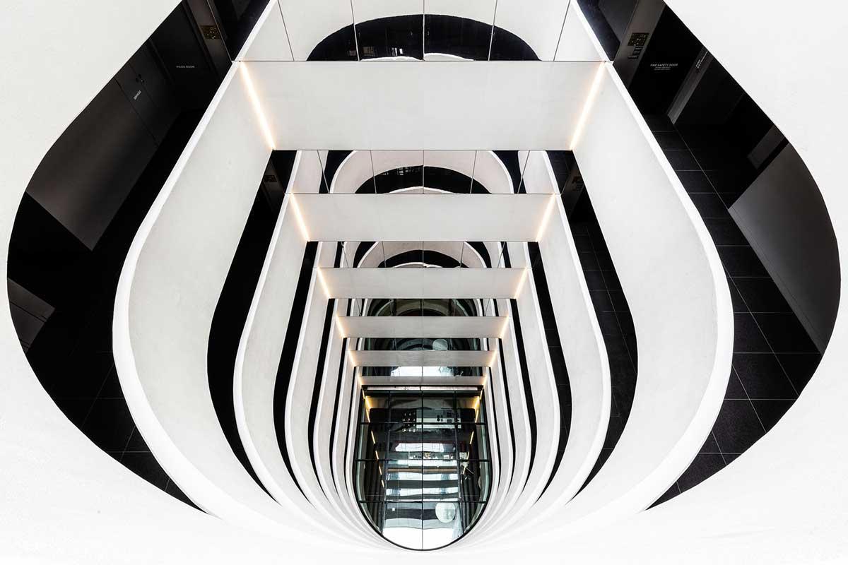 طراحی راه پله برج