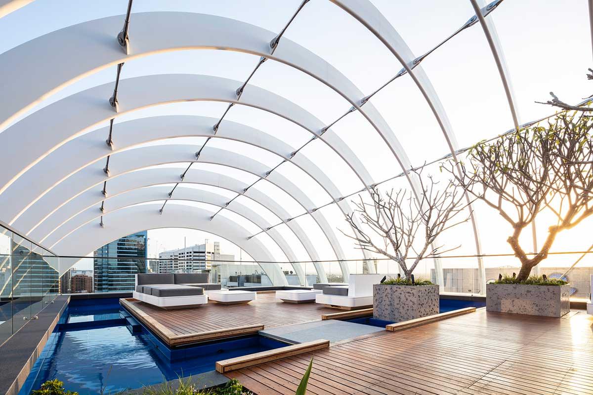 طراحی بام سبز برج مسکونی