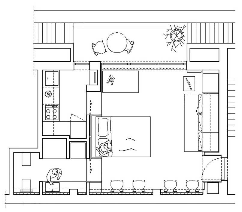 پلان خانه های زیر 50 متر که الهام بخش طراحی شما خواهند بود