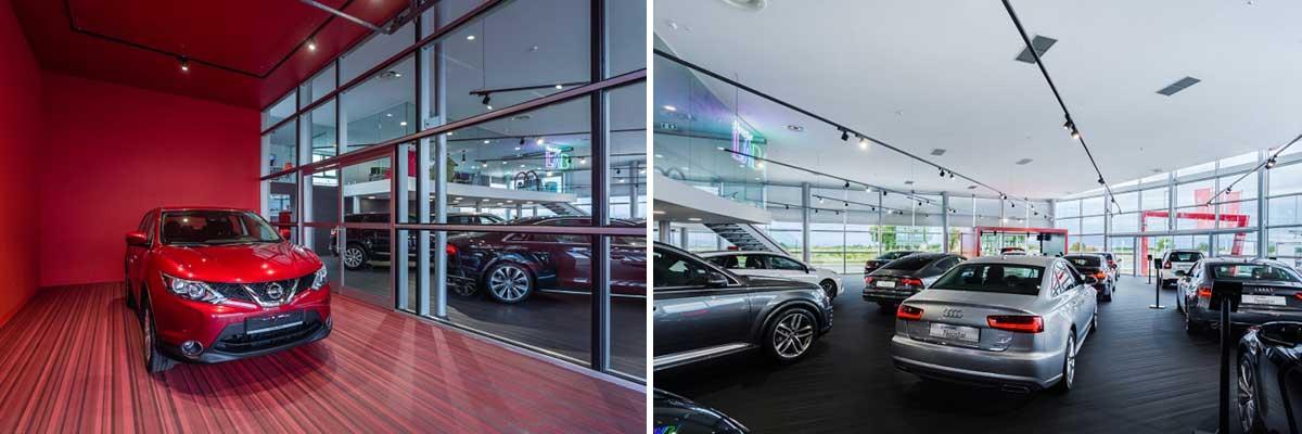 طراحی داخلی نمایشگاه خودرو
