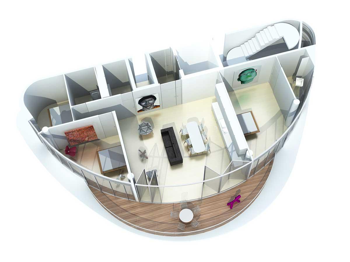 مدل سه بعدی طراحی داخلی