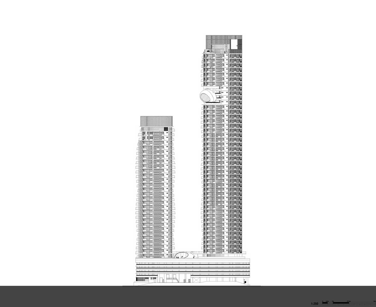 پلان نما برج مسکونی