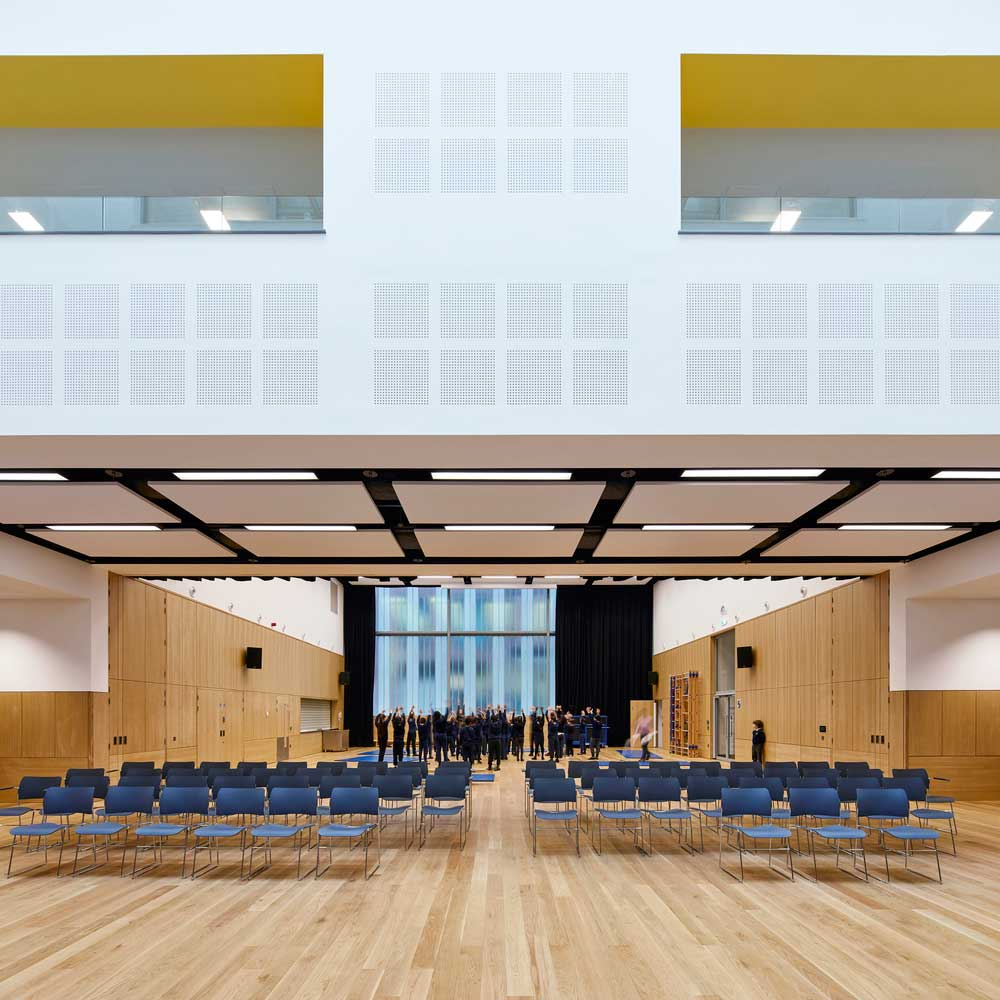 طراحی سالن اجتماعات مدرسه
