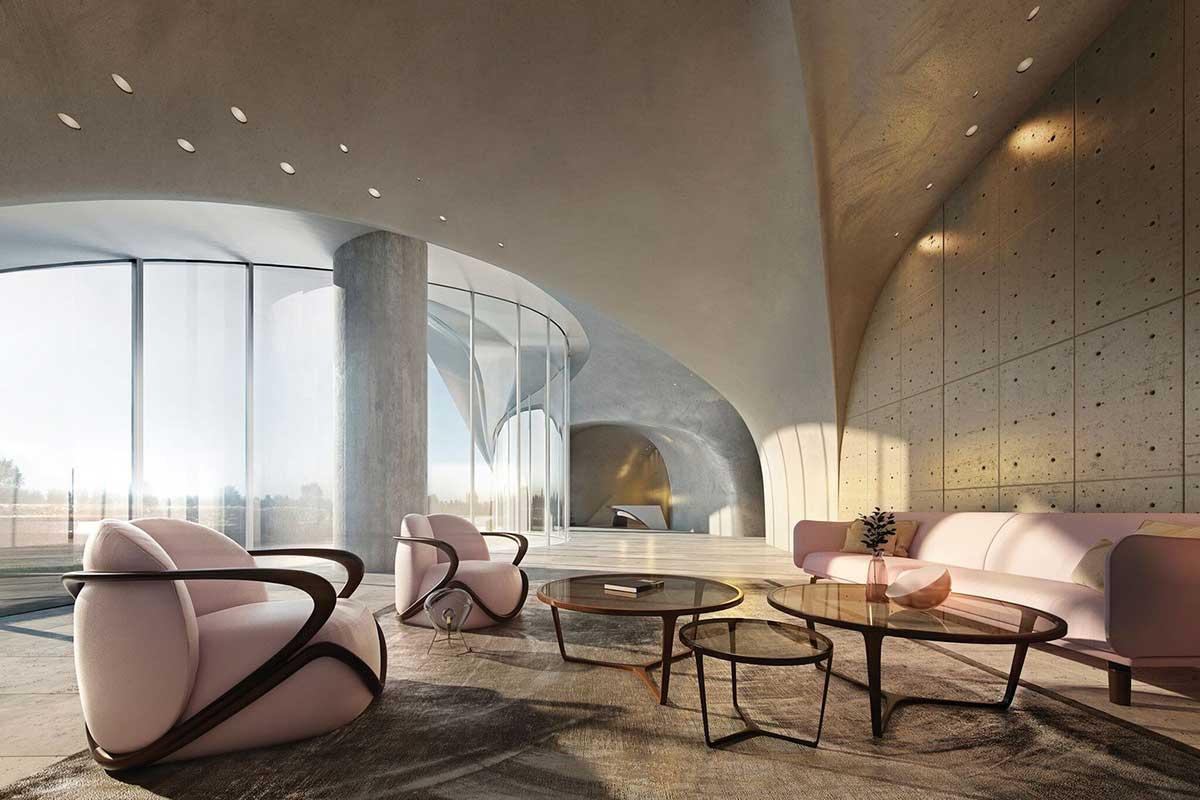 طراحی لابی برج مسکونی