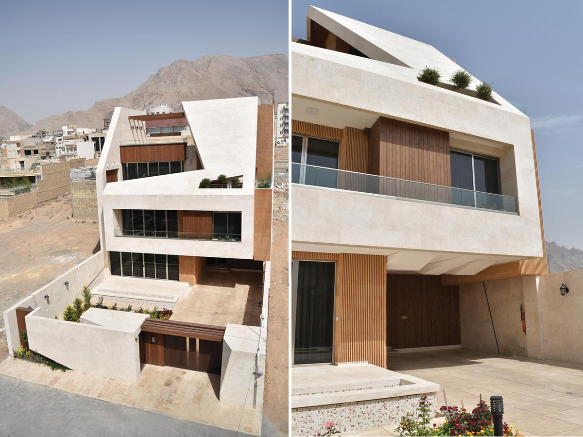 طراحی نمای خانه خرند اصفهان