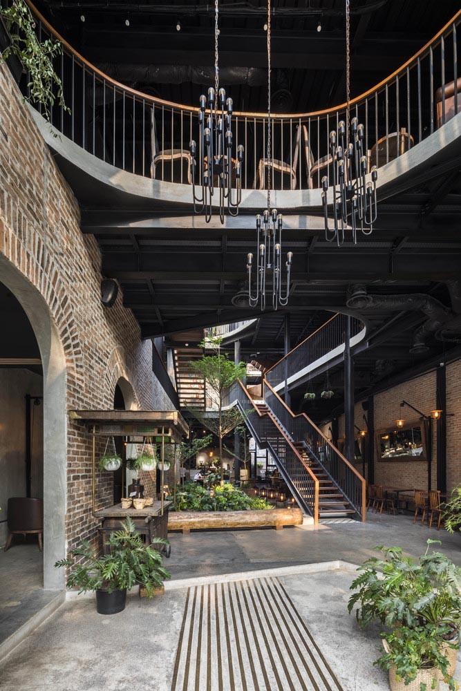 طراحی رستوران باغ