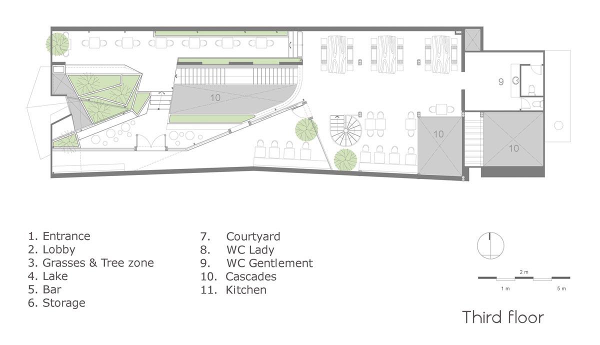 پلان طبقه سوم رستوران