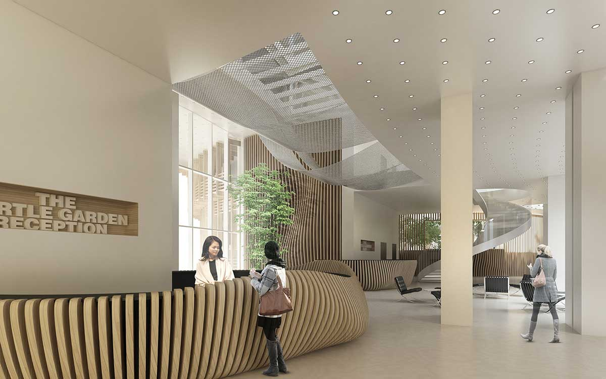 طراحی هتل باغ