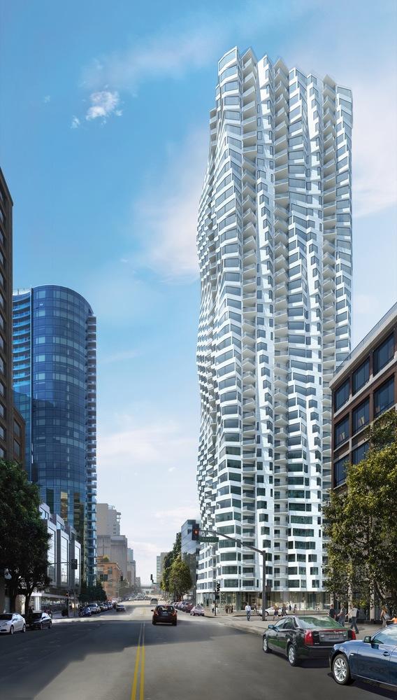 طراحی نمای بیرونی برج
