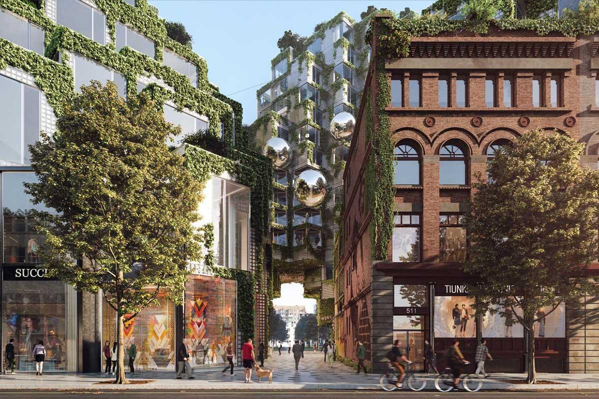 طراحی مجتمع مسکونی-تجاری