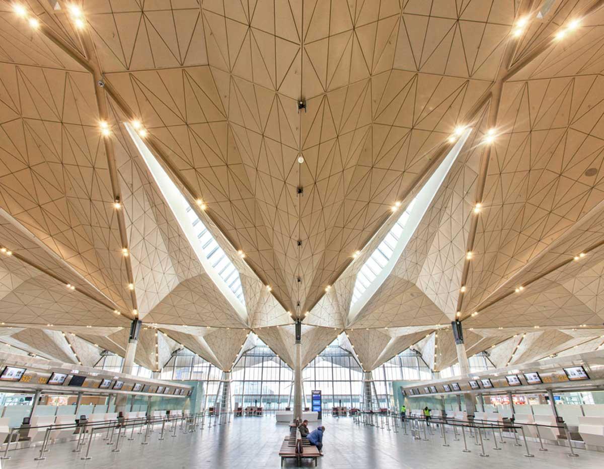معماری سالن انتظار فرودگاه