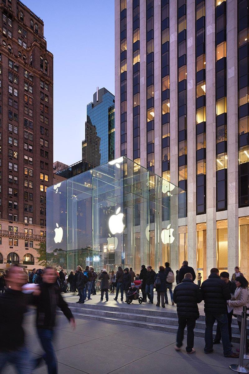 طراحی نما فروشگاه اپل