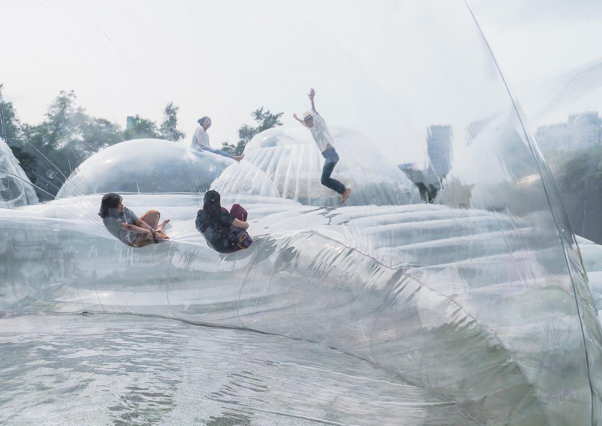 کوه پیمایی هوایی ، طراحی پاویونی چندمنظوره در چین