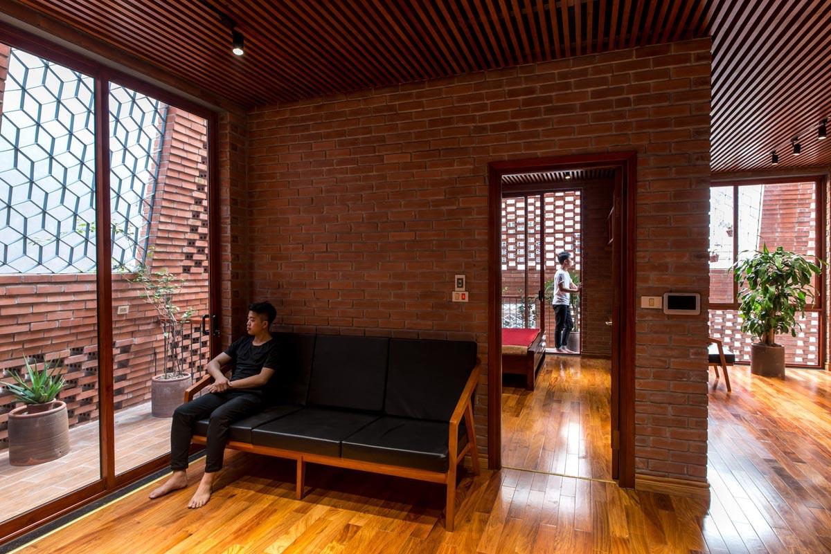 معماری داخلی با آجر