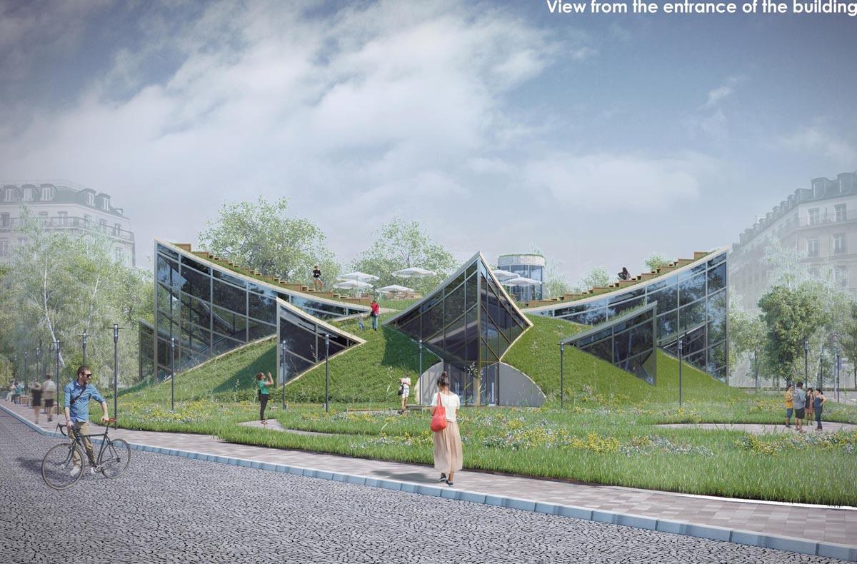 طراحی نما دانشگاه هنر