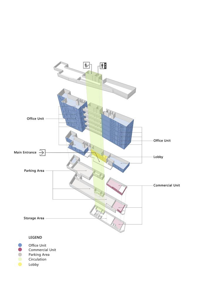 طراحی معماری ساختمان صبا
