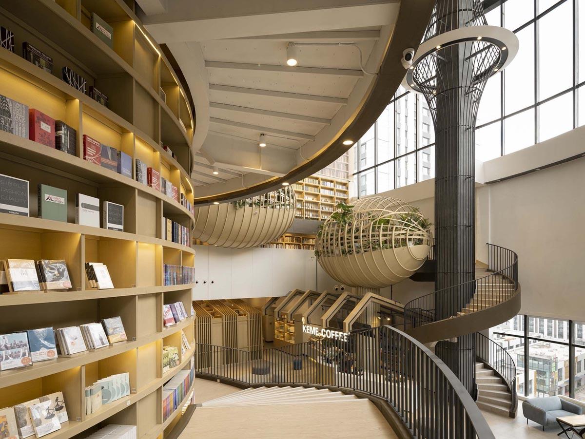 طراحی داخلی کتابفروشی