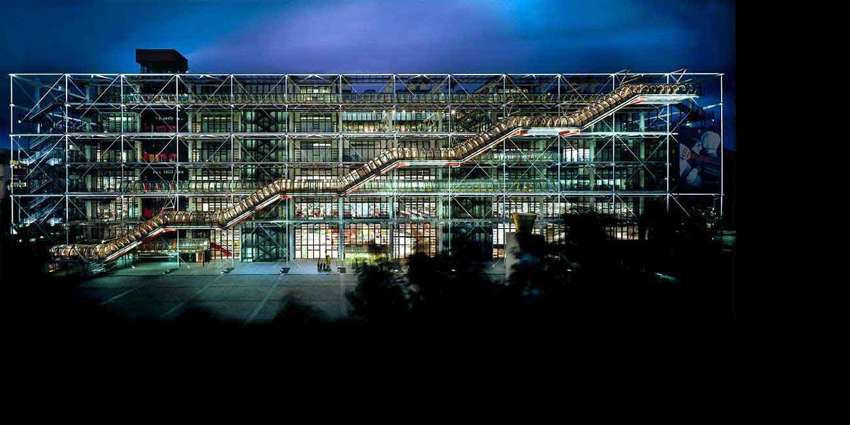 مرکز ژرژ پمپیدو اثر رنزو پیانو و ریچارد راجرز