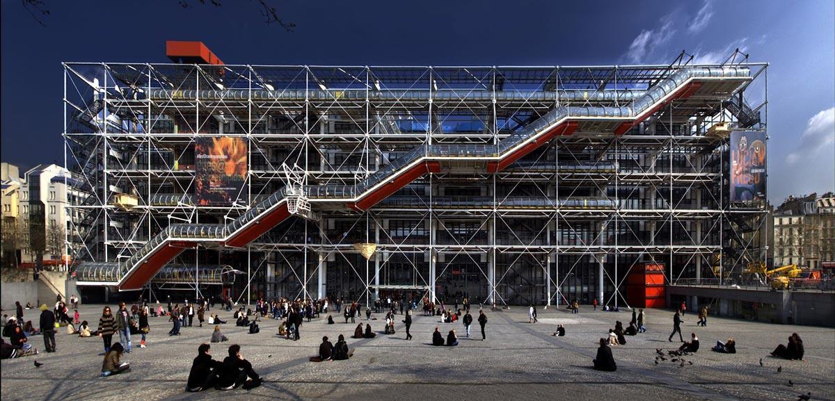 کلاسیک های معماری : مرکز ژرژ پمپیدو اثر رنزو پیانو و ریچارد راجرز   آرل