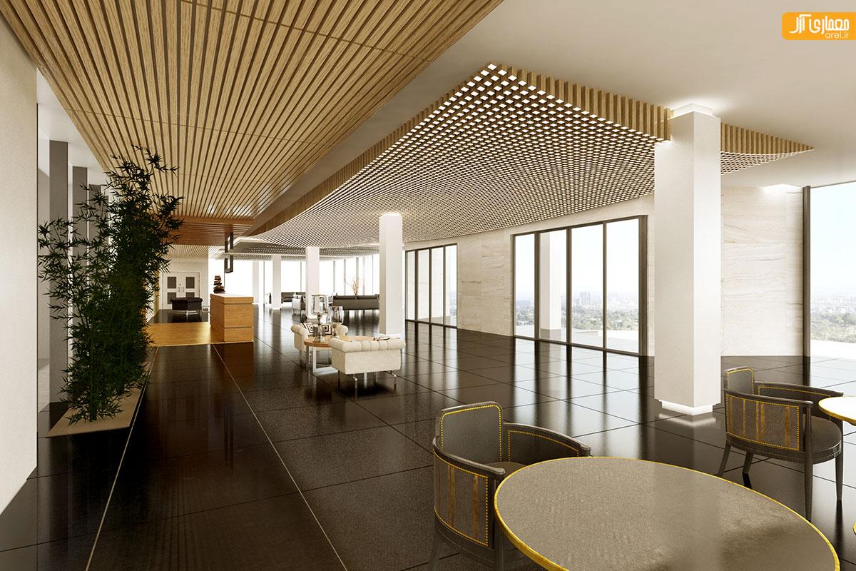فضای داخلی ساختمان اداری بانک مسکن