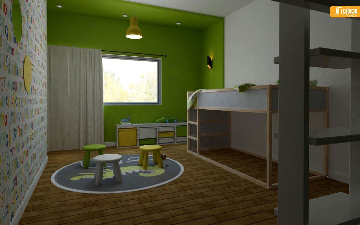 دکوراسیون اتاق کودک در ویلا