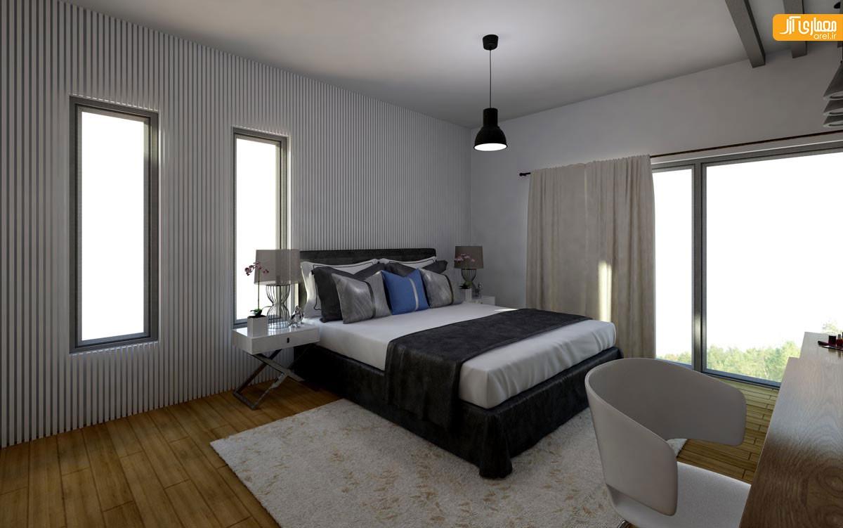 طراحی اناق خواب ویلا