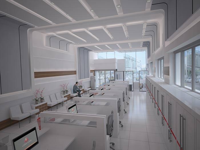 طراحی بانک ملت، شعبه ی آق قلا