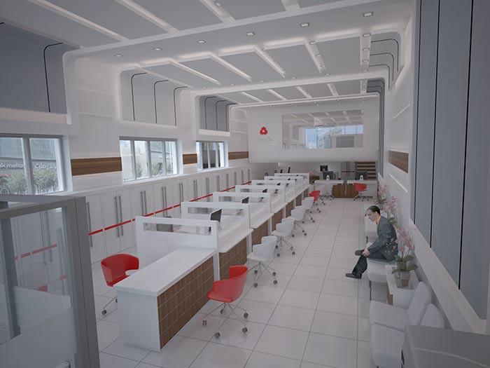 طراحی داخلی بانک ملت، شعبه ی آق قلا
