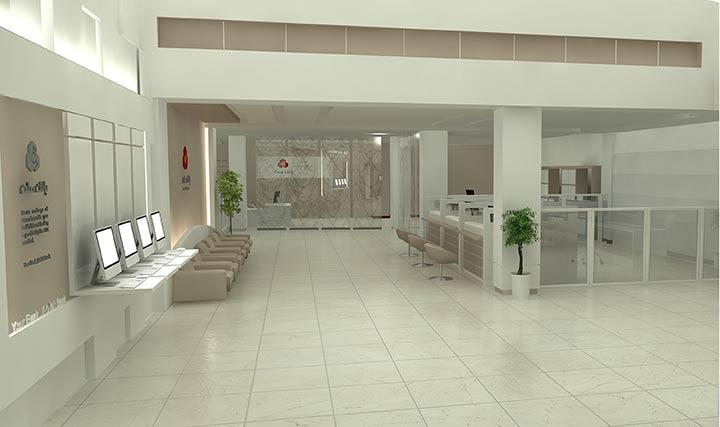 طراحی بانک ملت، شعبه ی فرشته