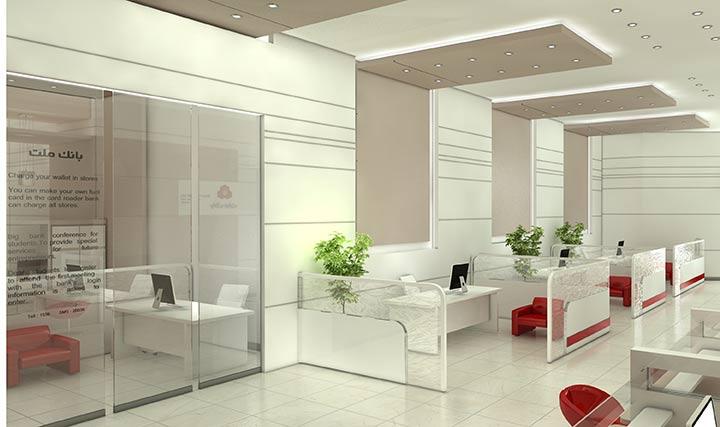 طراحی داخلی بانک ملت، شعبه ی نفت