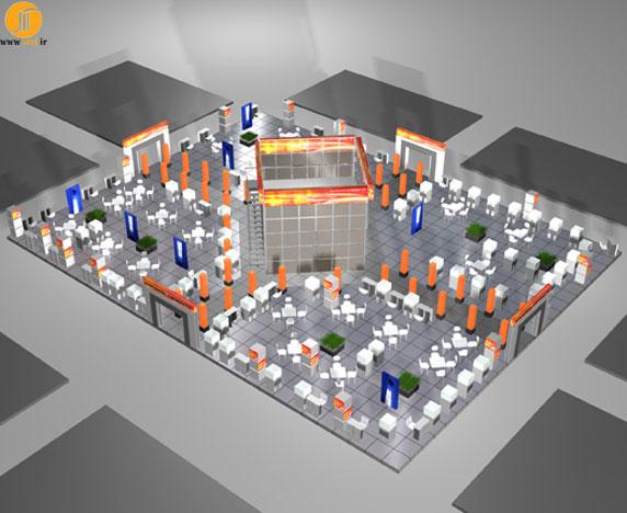 طراحی و اجرای غرفه نمایشگاهی شرکت گسترش انفورماتیک