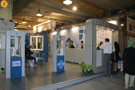 غرفه نمایشگاهی شرکت پنجره ی گلستان