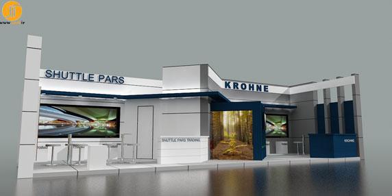طراحی غرفه شرکت شاتل پارس