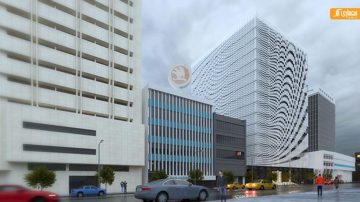 معماری ساختمان تجاری اداری