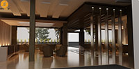 طراحی داخلی هتل ارم