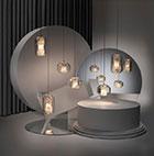 اتاق نور با لامپ هایی از جنس کریستال و شیشه