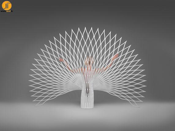 طراحی مبل با کانسپت طاووس | آرل